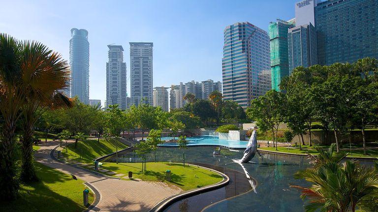 پارک کی ال سی سی (KLCC Park) کوالالامپور مالزی