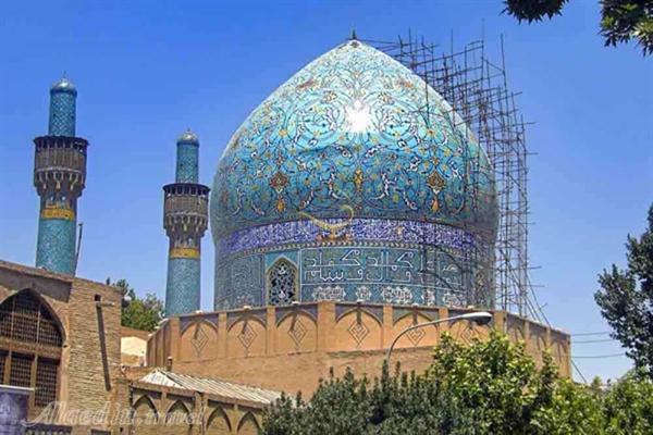 بیش از 80درصد مرمت گنبد مدرسه تاریخی چهارباغ اصفهان صورت گرفته است