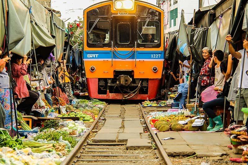 بازار مائه کلونگ در تایلند