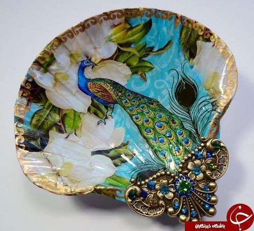 گنجینه ای از صدف ها در دستان هنرمند آمریکایی