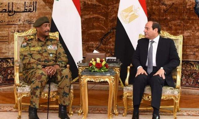 رئیس شورای نظامی انتقالی سودان با سیسی دیدار کرد