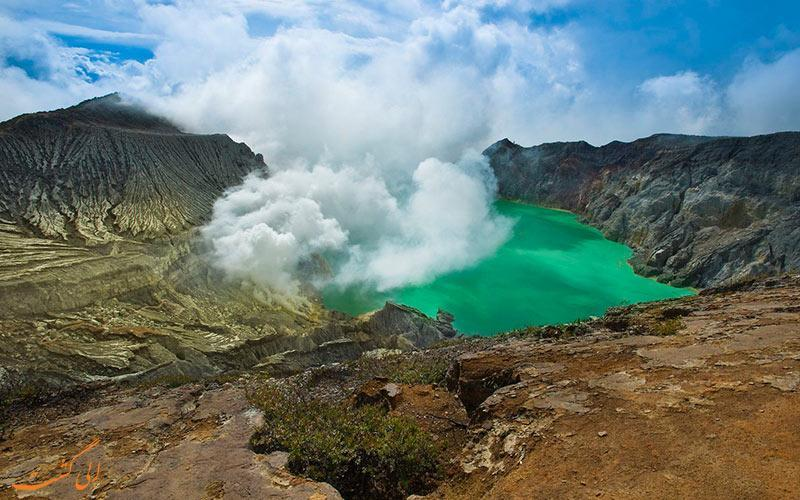 آتش آبی در جزایر اندونزی