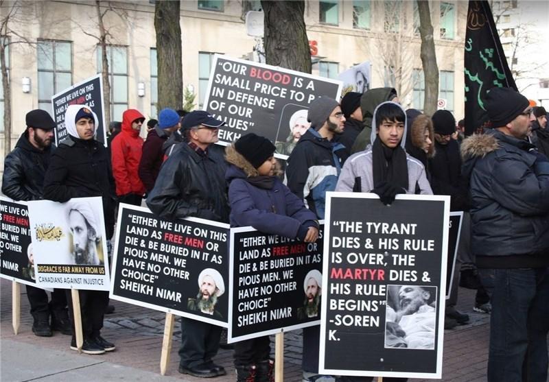 فعالان حقوق بشر کانادایی به اعدام شیخ النمر توسط عربستان اعتراض کردند
