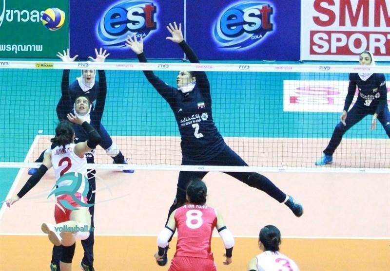 تیم والیبال دختران جوان ایران امشب راهی ویتنام می گردد