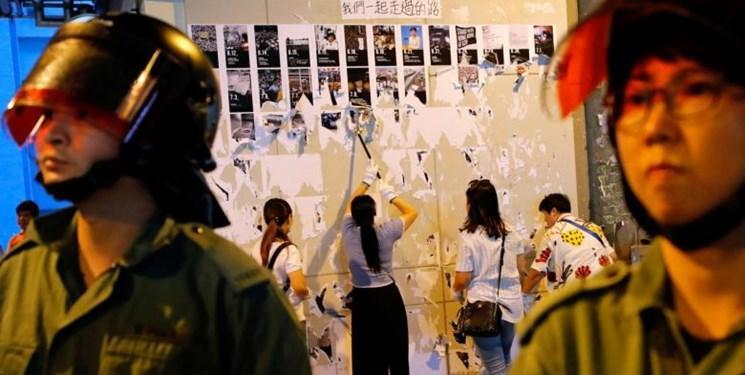 دیوارهای لنون عرصه شعارنویسیِ حامیان و مخالفان هنگ کنگ