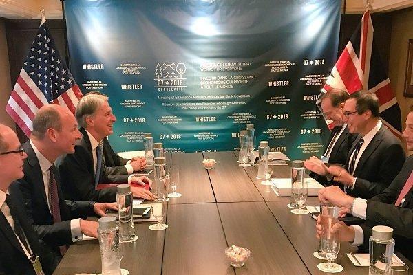 محورهای دیدار وزیر خزانه داری آمریکا با همتایای انگلیسی و آلمانی