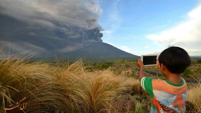 خشم آگونگ، وضعیت اضطراری فوران آتشفشان بالی اندونزی