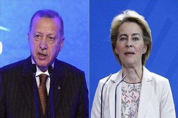 اردوغان و رئیس جدید کمیسیون اروپا رایزنی کردند