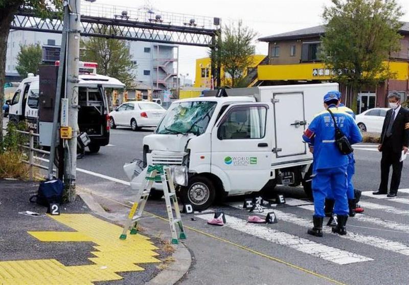 حمله خودرو به بچه ها در ژاپن