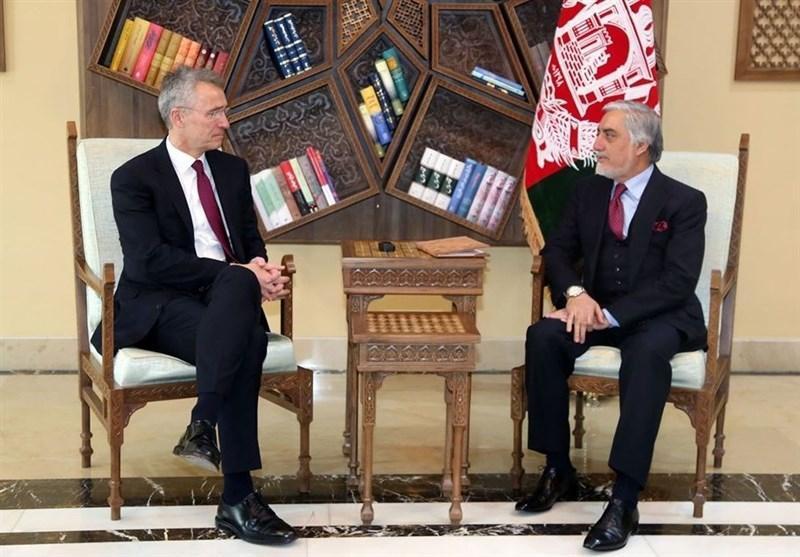 افغانستان، ملاقات دبیرکل ناتو با عبدالله پیش از صدور بیانیه مشترک با غنی
