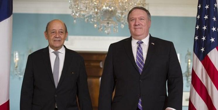 گفت وگوی تلفنی پامپئو و لودریان درباره لیبی