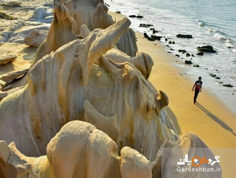 ساحل زیبای مکسر در بندر مقام، عکس