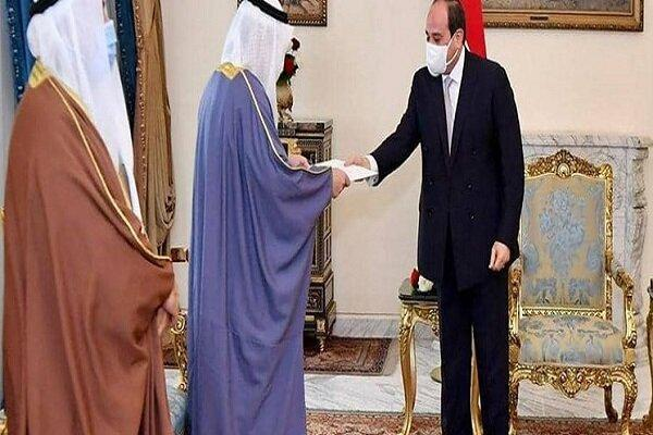 نامه امیر کویت به السیسی درباره بحران قطر و کشورهای شورای همکاری