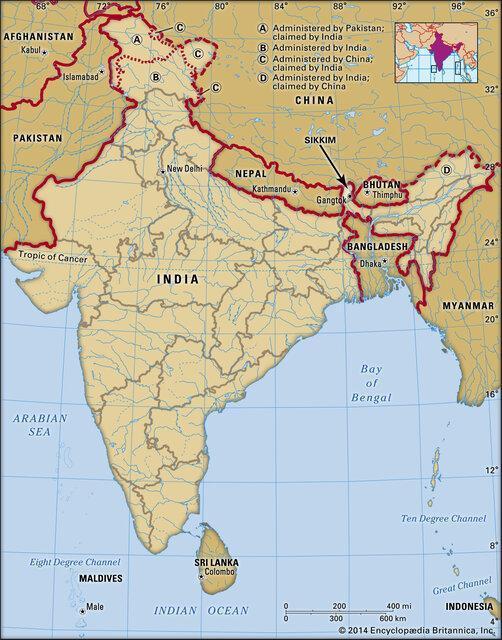درگیری و جراحت سربازان هندی و چینی در شمال شرق هند