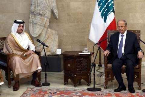 ملاقات وزیر امور خارجه قطر با مقامات لبنان