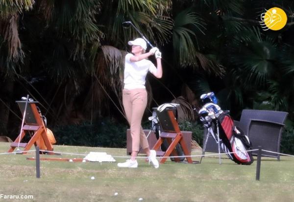 (تصاویر) گلف بازی ایوانکا ترامپ