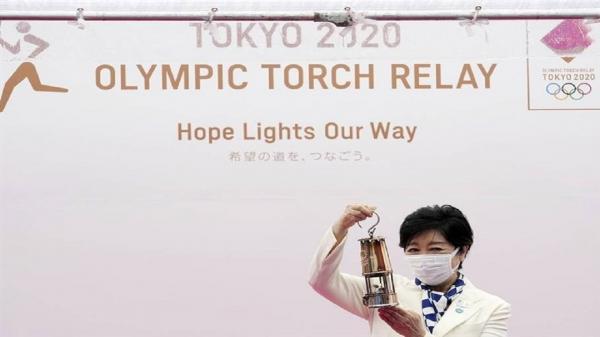 شروع آخرین مرحله از حمل مشعل المپیک در ژاپن
