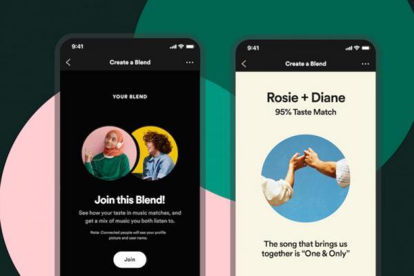 ویژگی Blend اسپاتیفای، نسخه مدرن هدیه نوارهای کاست سلکشن به دوست های خاص، لذت کشف هر روزه مقدار تشابه علایق موسیقیایی با دوستان و نزدیکان